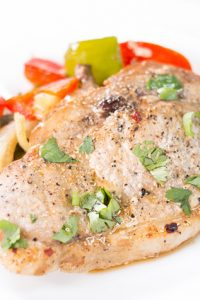 Low Carb Baked Pork Chops and Peppers