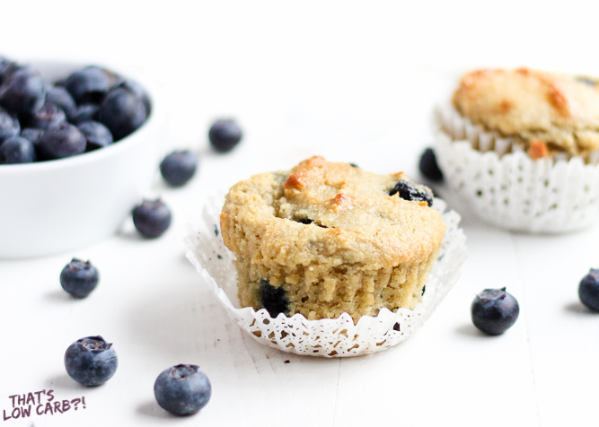 Low Carb Blueberry Muffins Recipe (Keto Blueberry Muffins)