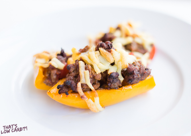 Low Carb Keto Taco Stuffed Peppers Recipe