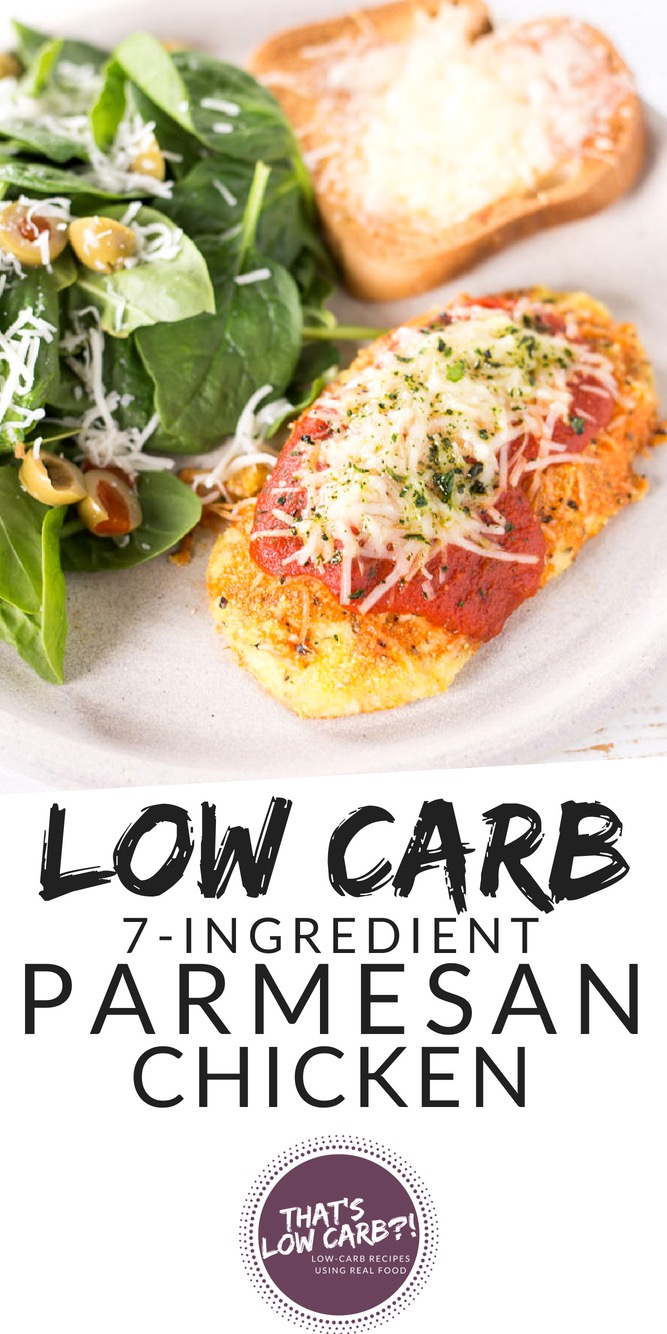 Low Carb Chicken Recipe Keto Chicken Parmesan recipe