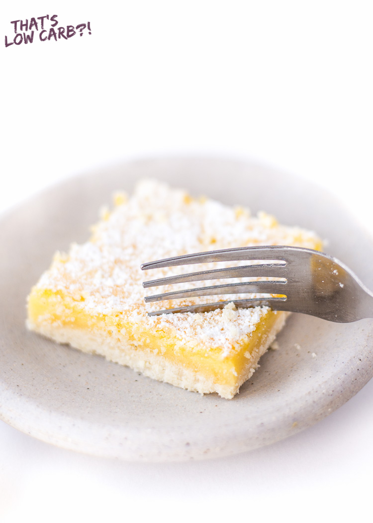 Low Carb Keto Lemon Bars Recipe