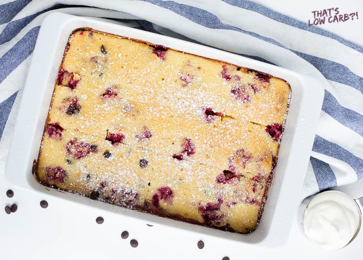 Low Carb Raspberry Chocolate Sponge Cake