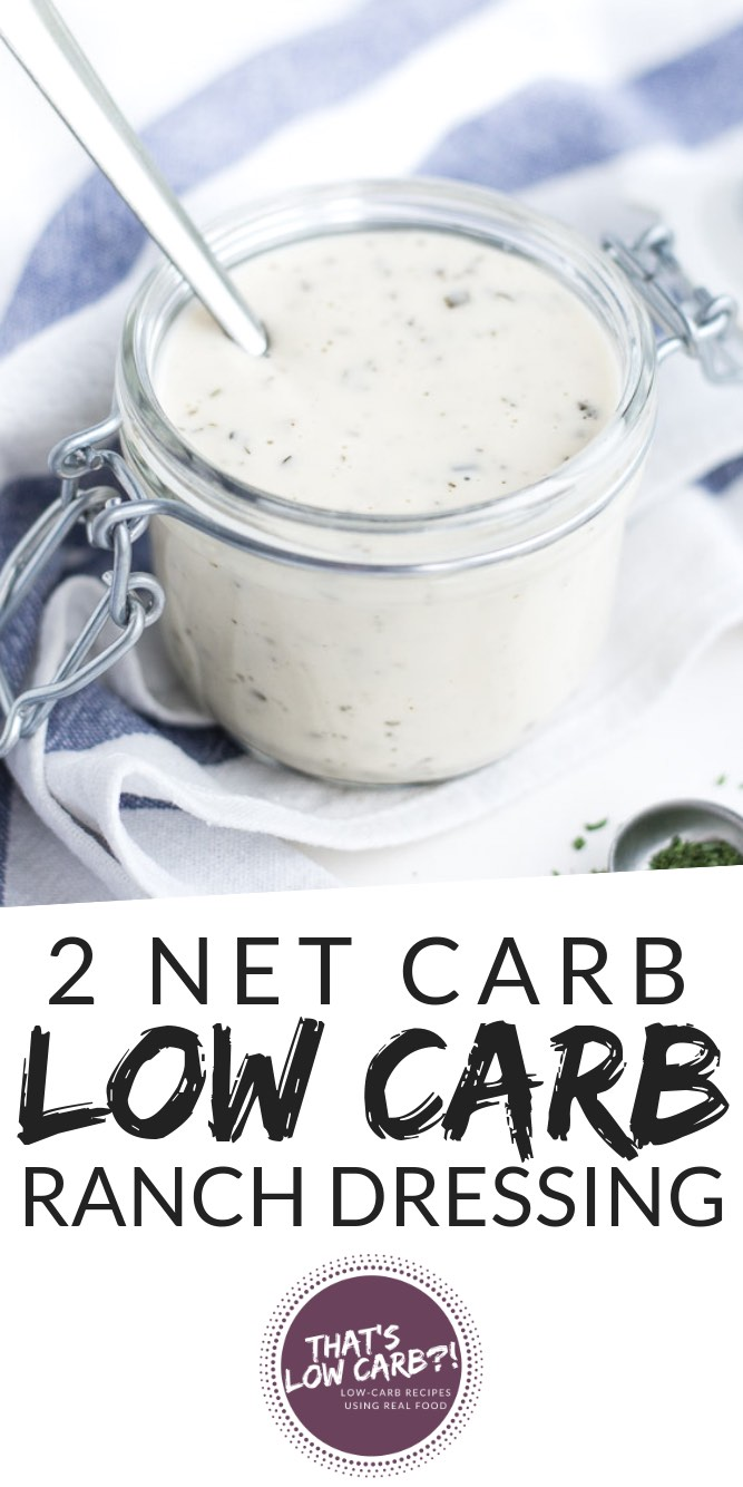 Low Carb Keto Ranch Dressing Recipe