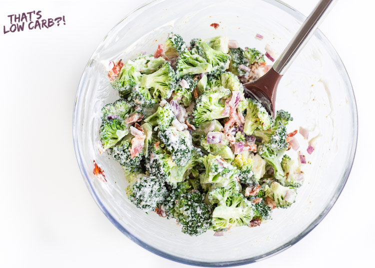 Low Carb Keto Broccoli Salad with Bacon Recipe