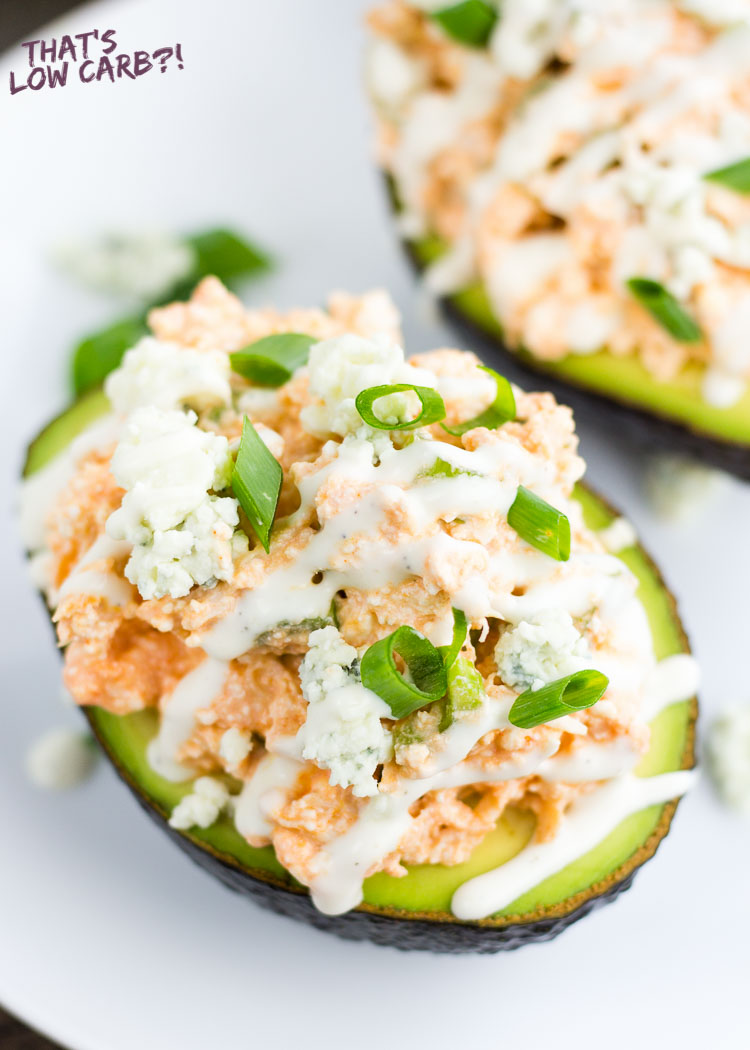 Buffalo Chicken Stuffed Avocado Recipe