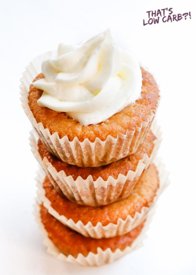 Keto Vanilla Cupcakes - That's Low Carb