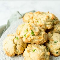 Cheddar Bay Biscuits piled on a plate
