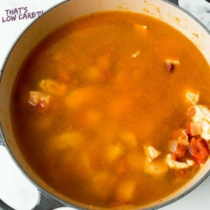 Chicken Taco Soup prepared in a large skillet