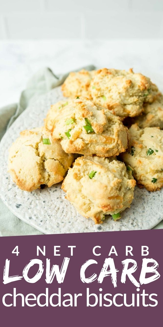 Cheddar Biscuits piled on a plate