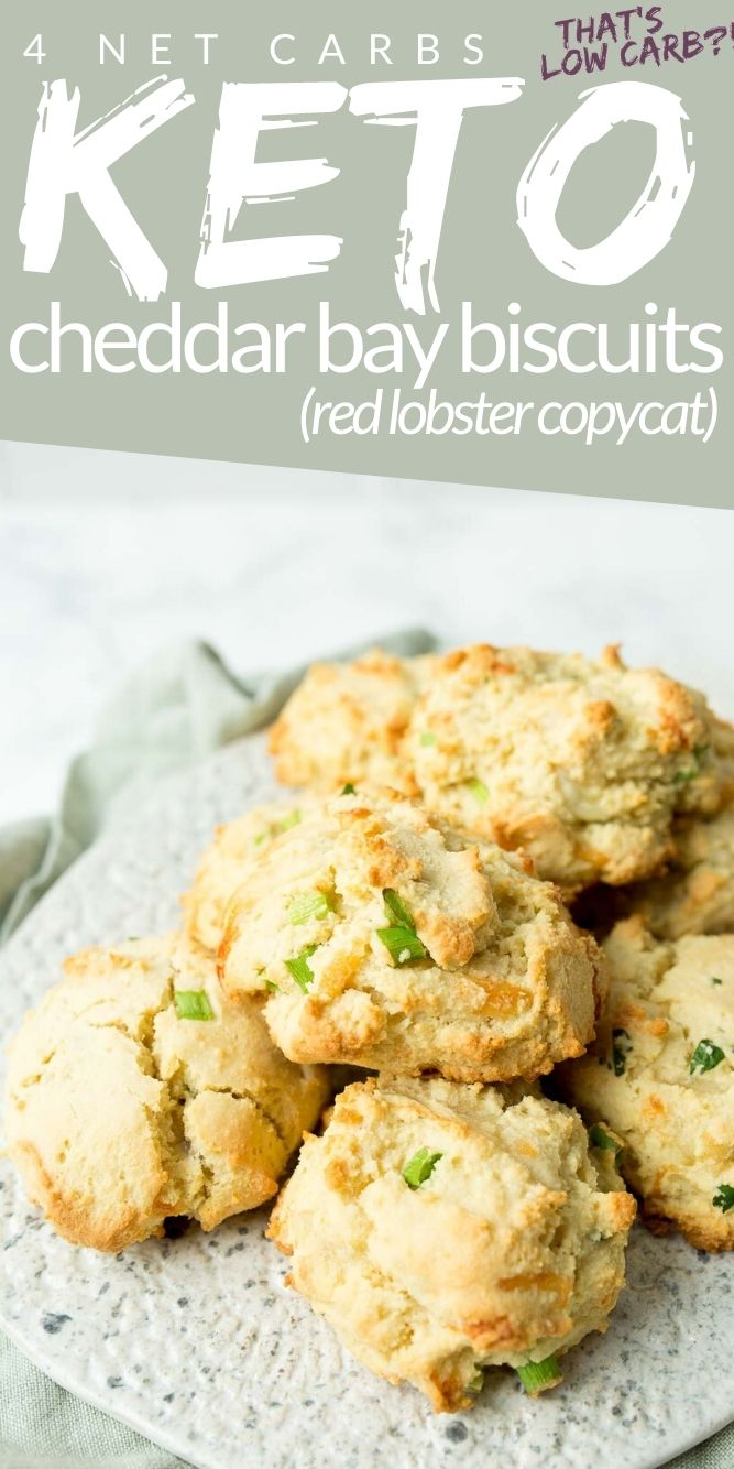 Cheddar Biscuits stacked on a plate